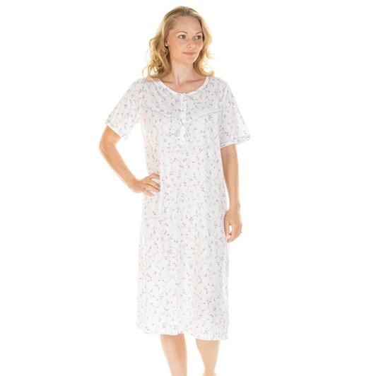 La Marquise Everyday Floral Jersey Short Sleeve Nightie