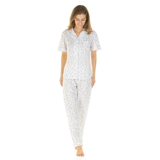 La Marquise Everyday Floral Short Sleeved Button Through PJ Set