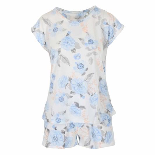 La Marquise Roses Floral Cap Sleeve Shorts Set