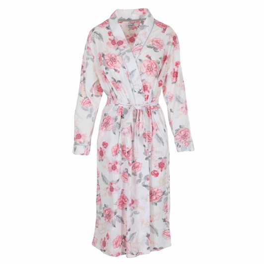 La Marquise Roses Floral Wrap Robe