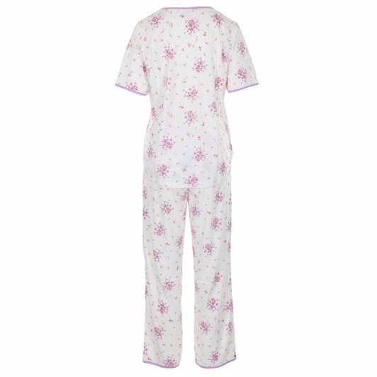 La Marquise Summer Bouquet Short sleeve Placket Pyjama Set