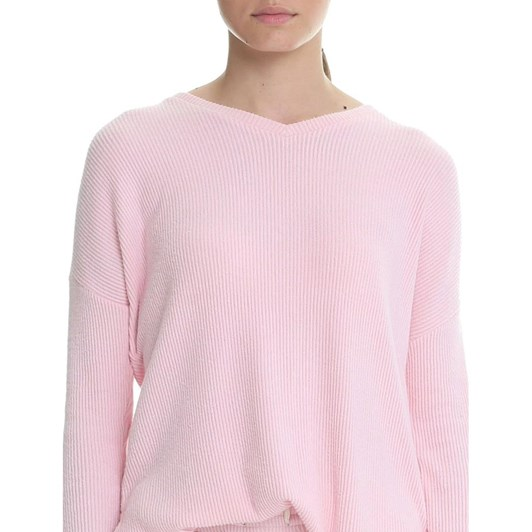 Papinelle Soft Touch Rib V-Neck LS Top