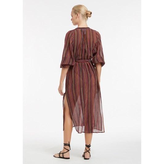 Jets Bedouin Stripe Shirtdress