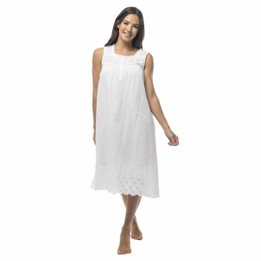 Victoria's Dream White Swan Sleeveless Nightie