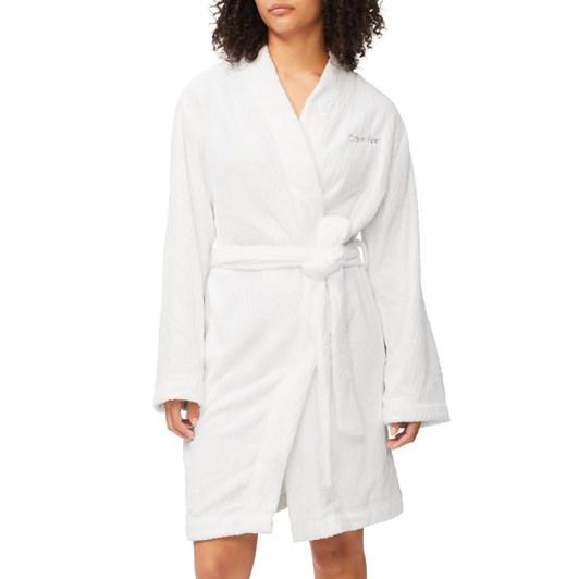Calvin Klein Fluffy Chev Robe