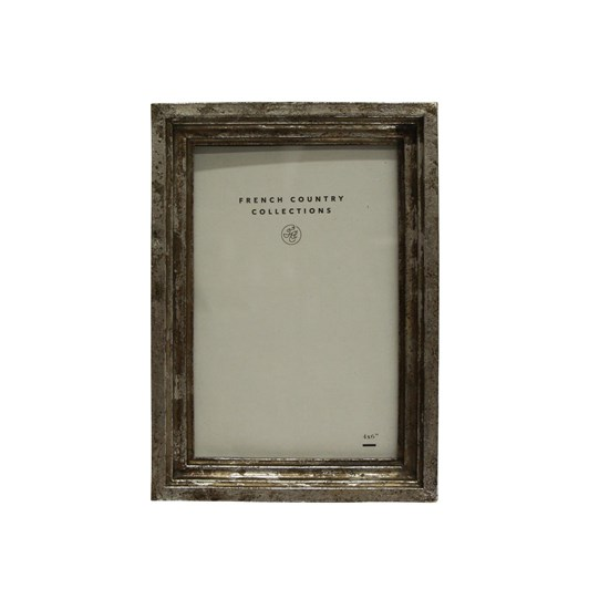 French Country Aria Antique Silver Photo Frame 4x6""