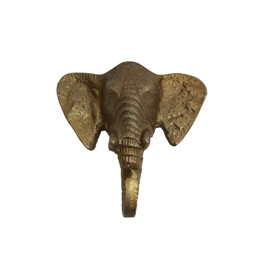 French Country Elephant Hook Brass Finish