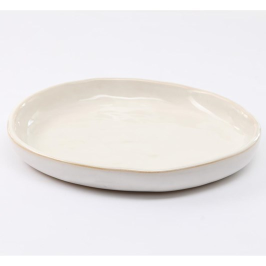 French Country Franco Rustic White Medium Plate