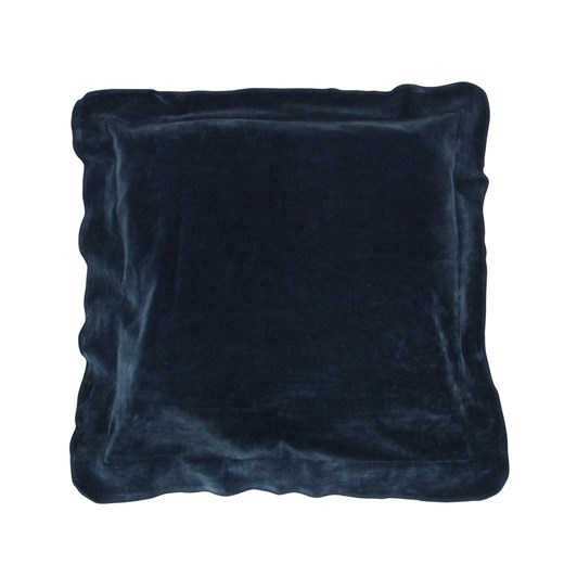 French Country Boudoir Navy Flange Cushion