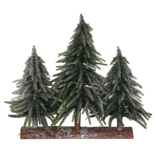 French Country Tri Table Trees Silver