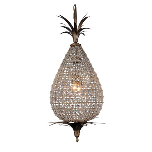 French Country Large Crystal Pineapple Chandelier