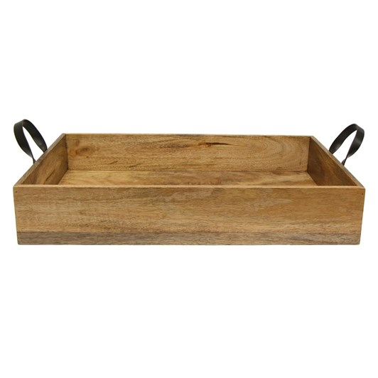 French Country Ploughmans Large  Rectangle Tray with Iron Handles