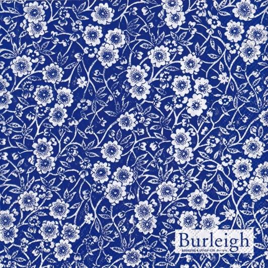 IHR Burleigh Calico Blue Luncheon Napkin