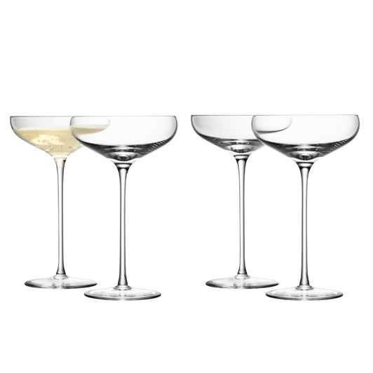 LSA Champagne Saucers 300ml Set 4 Clear