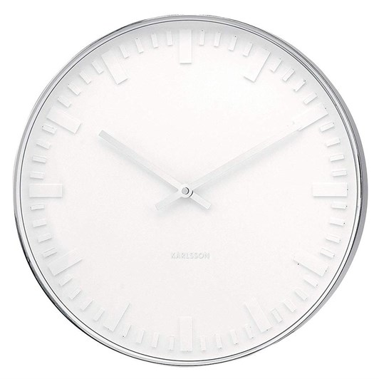 Karlsson Mr White Station Large Clock