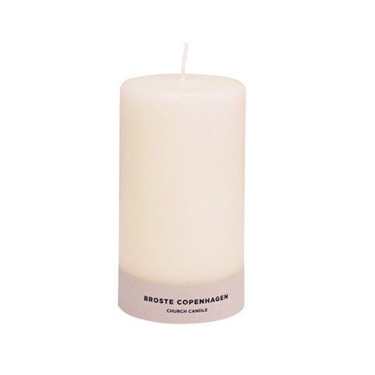 Broste Church Candle Antique White H250