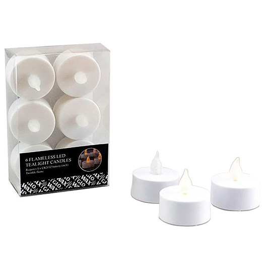 Waxglo LED Tealight Candles 6 Piece