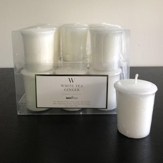 Waxglo Scented Votive Candle 50mm - White Tea Ginger