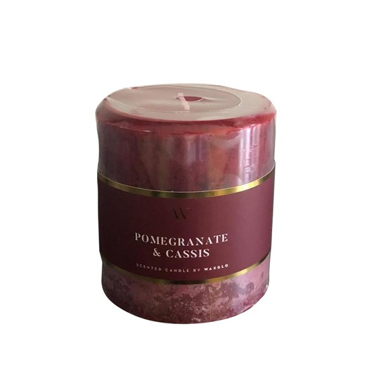 Waxglo 'W' Scented Cylinder 70x75mm - Pomegranate Cassis