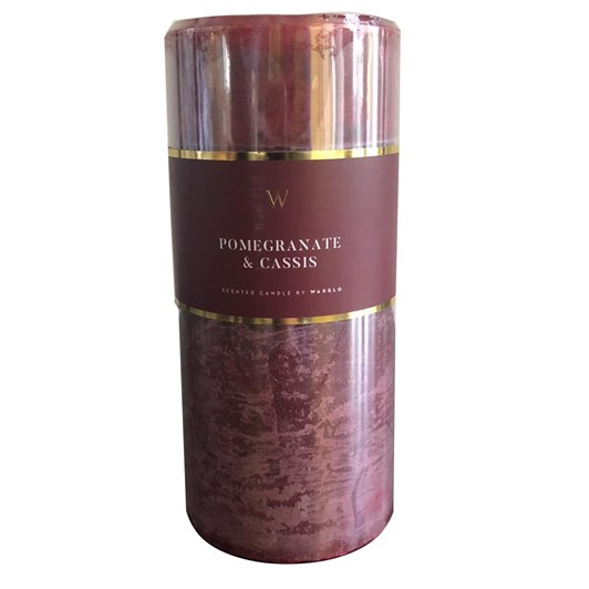 Waxglo 'W' Scented Cylinder 70x150mm - Pomegranate Cassis