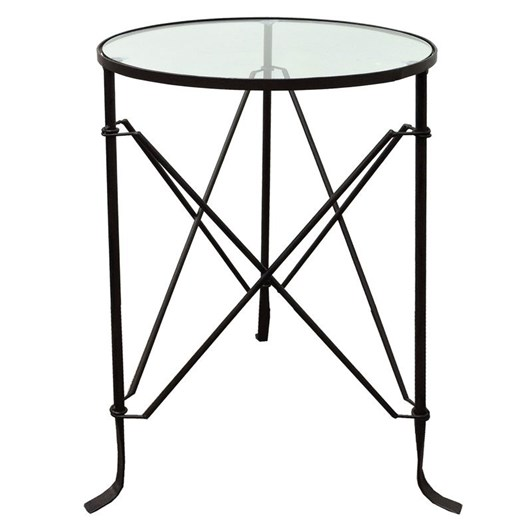 Le Forge Villa Iron Table Black