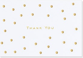 Image Gallery Ty Notecard: Gold Dots