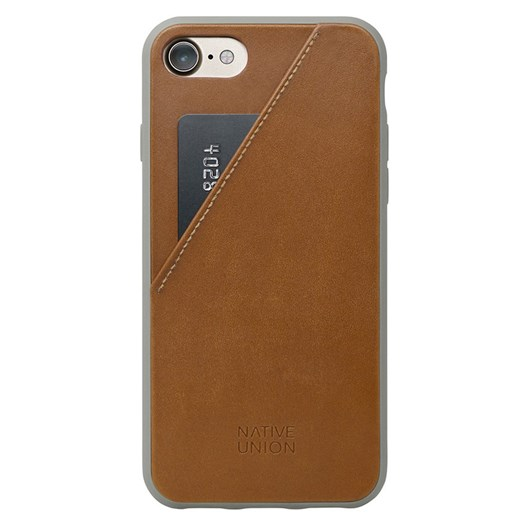 Native Union Clic Card Case for iPhone 7 (Tan/Taupe)