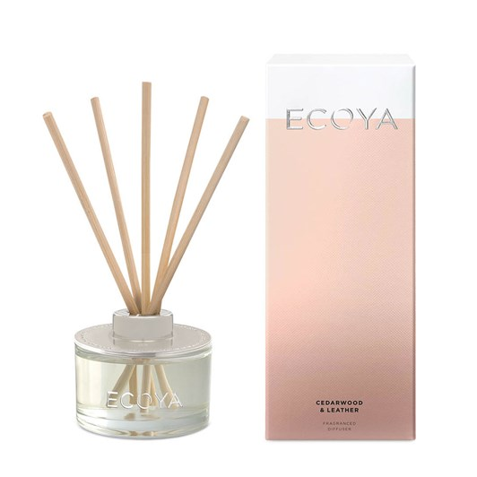 Ecoya Reed Diffuser - Cedarwood & Leather