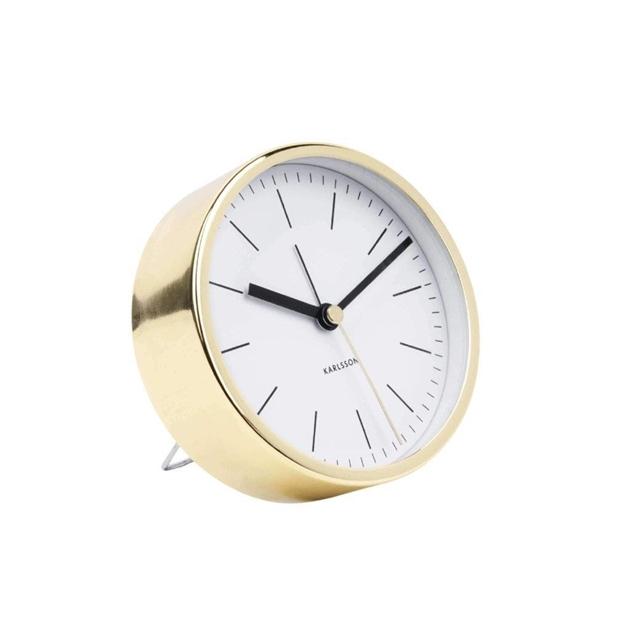 Karlsson Alarm Minimal Gold/White -