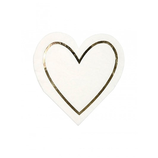 Meri-Meri Pearl Heart Napkin