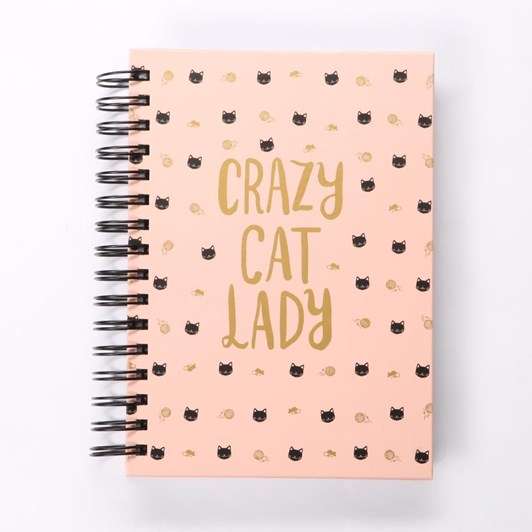 Lady Jane Ditsy Cats Spiral Journal