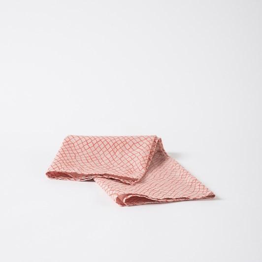 Citta Mesh Linen Blend Tea Towel Peony/Quince  55X75Cm