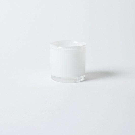 Citta Handblown Tealight Holder Snow  6.5X7Cmh