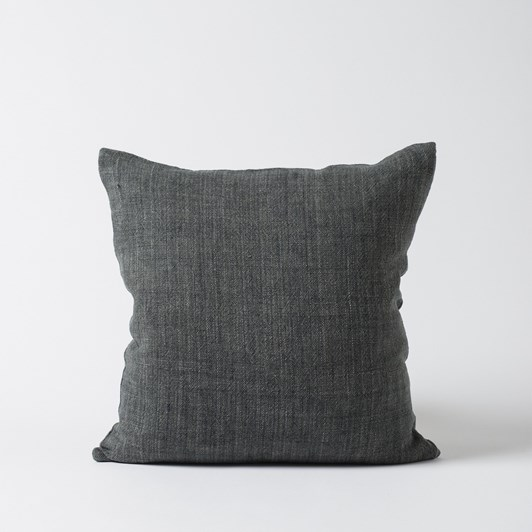Citta Heavy Linen Cushion Cover Slate  55X55Cm
