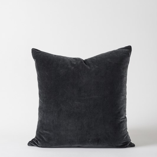 Citta Cotton Velvet Cushion Cover Carbon  55X55Cm