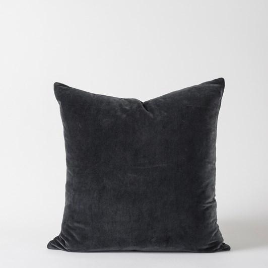 Citta Cotton Velvet Cushion Cover Carbon  55X55Cm
