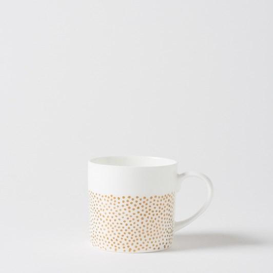 Citta Pois Coffee Cup Gold  8Cmdiax8Cmh