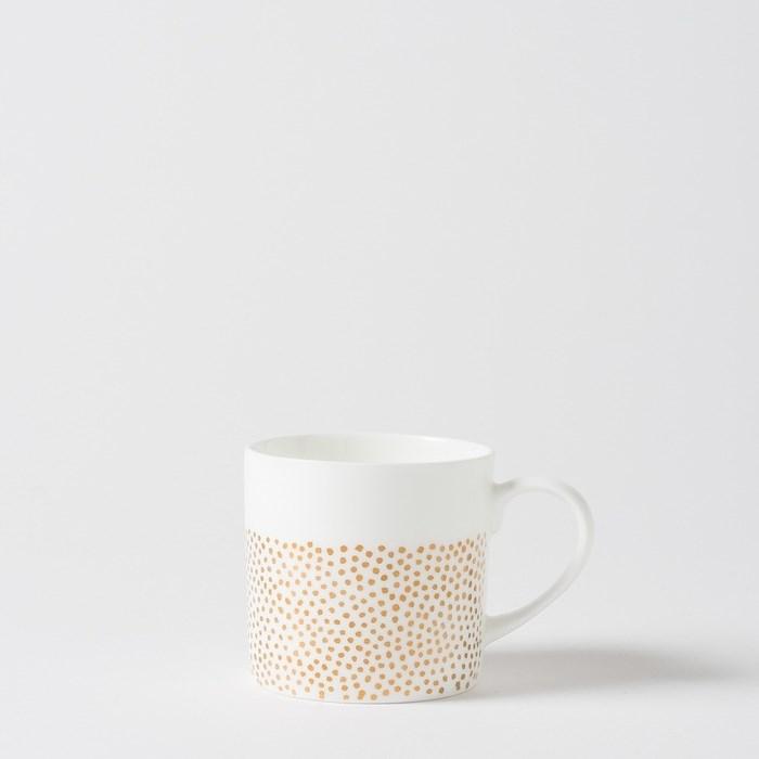 Citta Pois Coffee Cup Gold  8Cmdiax8Cmh -