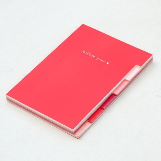 Caroline Gardner Multi Tab Notebook Red