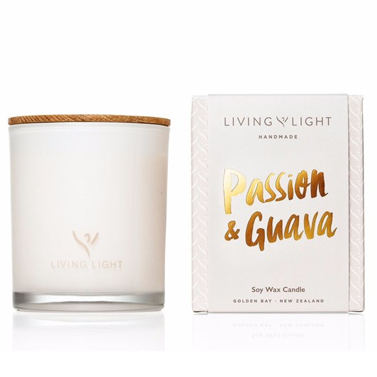 Living Light Dream Passion And Guava Soy Candle Large 65 Hours