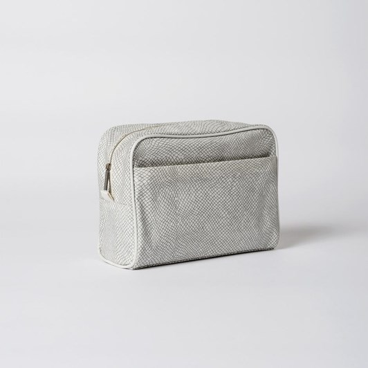 Citta Mesh Coated Wash Bag Ash/Chalk  29X12X22Cmh