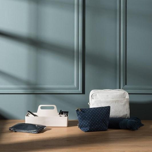 Citta Spot Cotton Wash Bag Navy/Nougat L 26X11X17Cmh