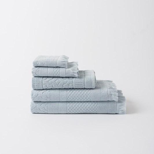 Citta Jacquard Hand Towel Duck Egg  50X70Cm