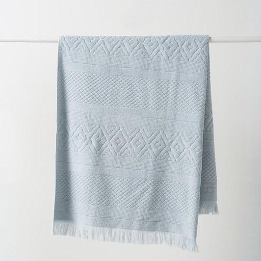Citta Jacquard Bath Towel Duck Egg