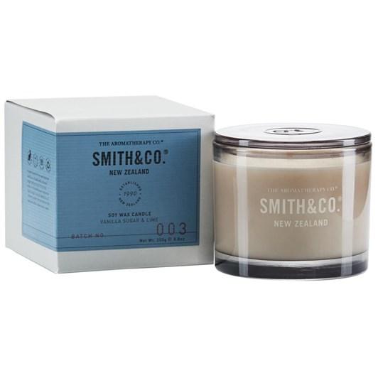 Smith & Co Candle 250G Vanilla Sugar & Lime
