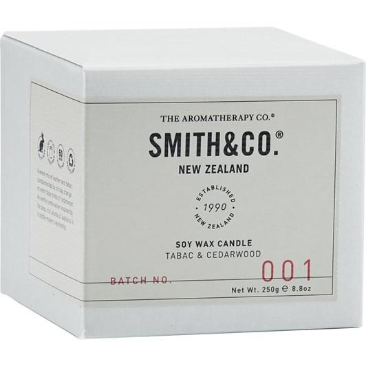 Smith & Co Candle 250G Tabac & Cedarwood