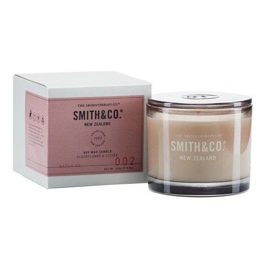 Smith & Co Candle 250G Elderflower & Lychee