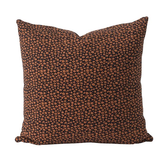 Citta Forget Me Not Cushion Cover Navy/Toffee 55x55cm