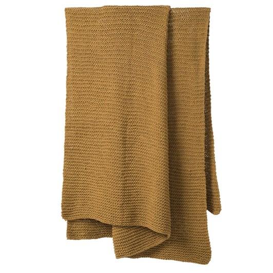 Citta Purl Knit Cotton Throw Pear 130x170cm