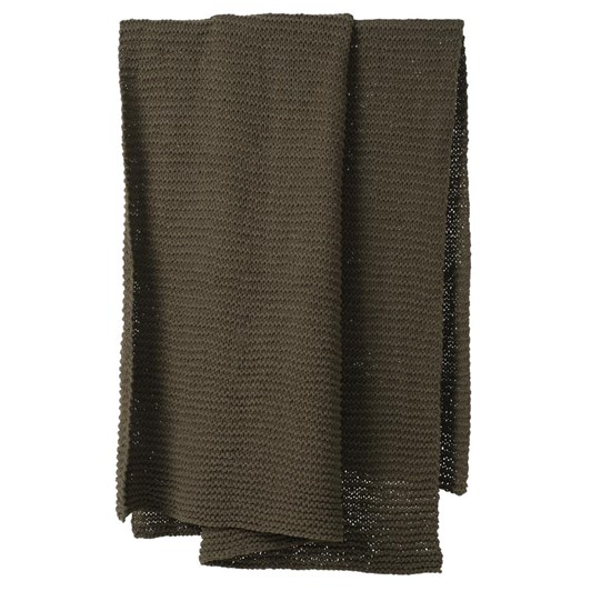 Citta Purl Knit Cotton Throw Seaweed 130x170cm